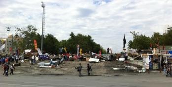 Barricade at Taksim, 12 June 2013