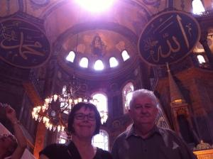 Helen & John at Hagia Sophia
