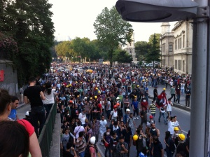 Protest at Kabataş, Sunday 17 June.