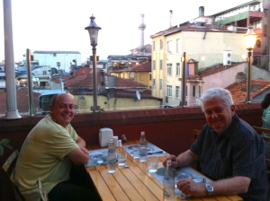 Rooftop terrace at Çiya Kebap, Kadiköy