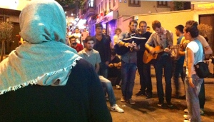 Young musicians at Kadiköy