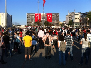 Ongoing 'Standing Man' protest, Taksim Square